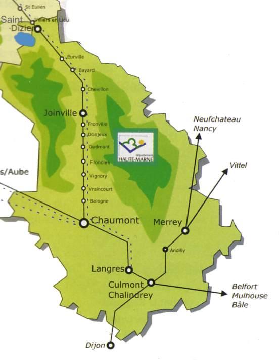 La regionalisation en champagne ardenne for Haute marne carte